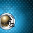 American football blue chrome background — Vettoriali Stock