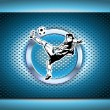 Chrome soccer poster background — Stock Vector
