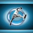 Royalty-Free Stock Vector Image: chrome basketball poster background