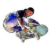 Jumping skateboarder — Fotografia Stock