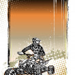 Quad bike poster background — Stock Vector #51049765