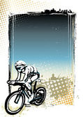 Cycling poster background — Vetorial Stock