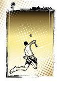 ビーチ バレーボール ポスターの背景 — ストックベクタ
