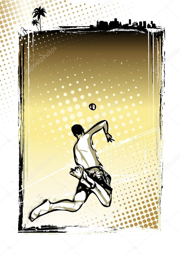 Beach Volleyball Poster Beach Volleyball Player