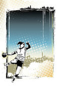 ハンドボールのポスターの背景 — ストックベクタ