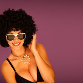 Beautiful woman with black afro — Stock Photo