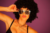 Sexy woman with black afro hairstyle — Stock Photo