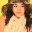 Seductive Winter Woman — Stock Video