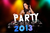 партия 2013 с сексуальный dj — Стоковое фото