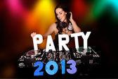 Partito 2013 con sexy dj — Foto Stock