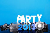 PARTY 2013 background with DJ deck — Stock Photo