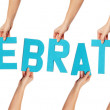 Royalty-Free Stock Photo: Celebration lettering on white