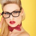 Glamorous retro blonde fashion model — Stock Photo