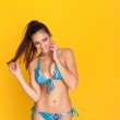 Woman in blue bikini — ストック写真 #21861299