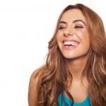 Happy brunette woman — Stock Photo #21914411
