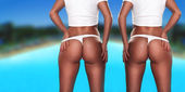 Twin sexy asses — Stock Photo