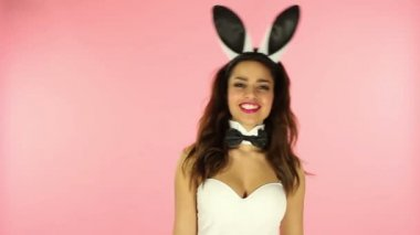 Sexy bunny — Stock Video