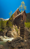 View of Crystal Mill and the Crystal River — Stock Photo
