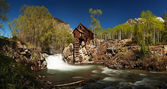 Scenic panorama of Crystal Mill in Colorado — Stock Photo