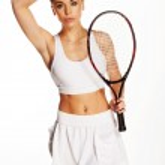 Beautiful young tennis player — Stock Photo