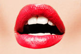 Sexy red lips — Stock Photo