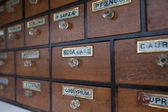 Antique wooden cabinet with drawers — Photo