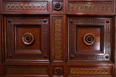Ornate wooden paneling — Stock Photo