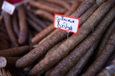 Dried spicy sausages — Stock Photo