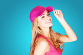 Vivacious beautiful blond woman — Stock Photo
