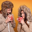 Portrait of couple wearing winter coats — Stock Photo #33429199