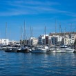 Eivissa ibiza town port sea view boats — Stock Photo #46312625