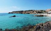 Cala Tarida in Ibiza beach San Jose at Balearic Islands — Stock Photo