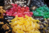 Mixed colorful candies background — Stock Photo