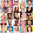 Collage of Faces of Different People — Stockfoto #48280729