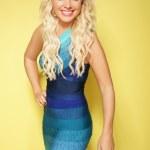 Beautiful vivacious sexy blond woman — Stock Photo #48763019
