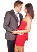 Romantiska par omfattar — Stockfoto