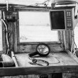 Interior of an old cockpit on a fishing boat — Stock Photo #49434179