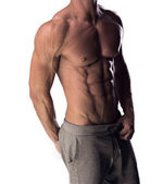 Man with a toned muscular physique — Stock Photo