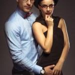 Sexy stylish retro couple in glasses — Stock Photo #50572873