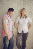 Couple ignoring each other after an argument — Stock Photo