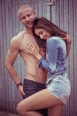 Perfect Romantic Couple Pose — Stock Photo
