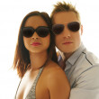 Lovely Caucasian Couple Wearing Shades Together — Stockfoto #50833775