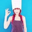 Young Chef Indicating Perfection — Stock Photo #9576375