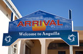 Welcome to Anguilla. Arrival sign. — Stock Photo