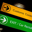 Stock Photo: Customs control sign.