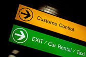 Customs control sign. — Foto Stock