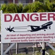 Stock Photo: Jet blast danger sign.