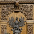 Polish eagle, door knocker. — Stock Photo