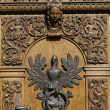 Stock Photo: Polish eagle, door knocker.
