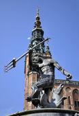 God of sea. Neptune's statue. — Foto de Stock